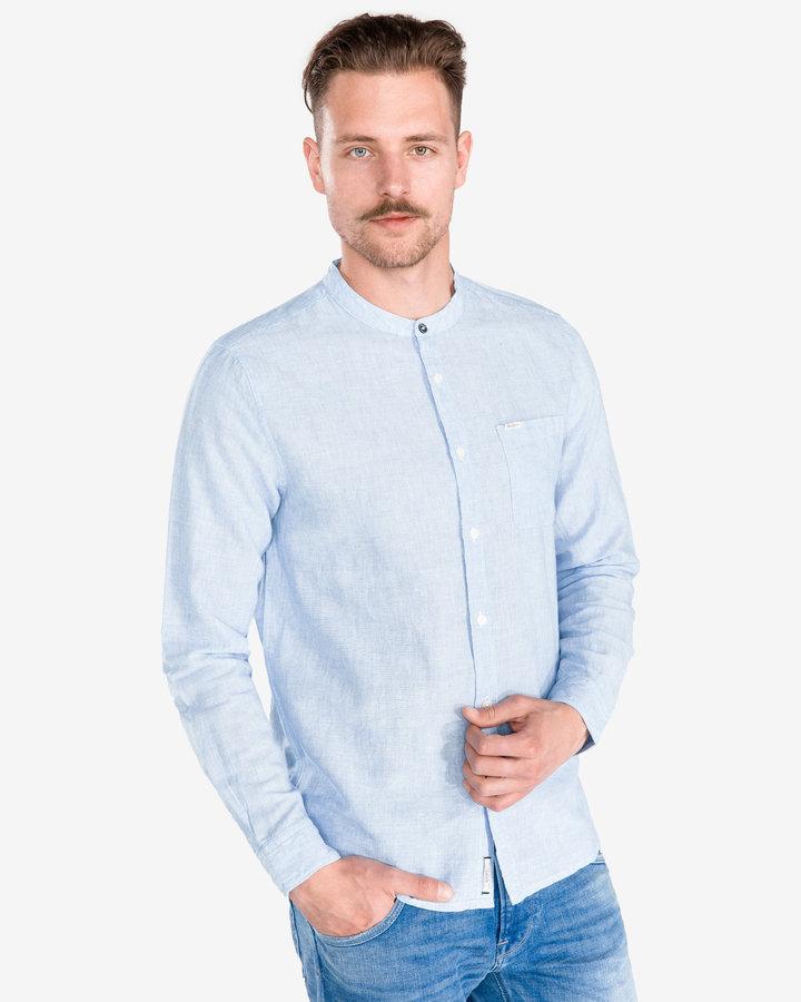Modrá pánská košile s dlouhým rukávem Pepe Jeans - velikost XL