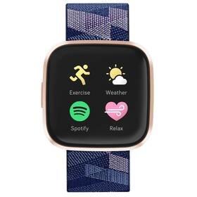 Modré chytré hodinky Versa 2 Special Edition, Fitbit