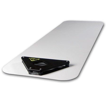 Bílá hokejová střelecká deska Sidelines Sports - délka 244 cm a šířka 76 cm