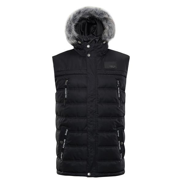 Černá zimní pánská vesta Alpine Pro - velikost L