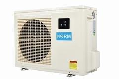 Tepelné čerpadlo Norm - výkon 7 kW, šířka 96 cm, výška 63,8 cm a hloubka 34,2 cm