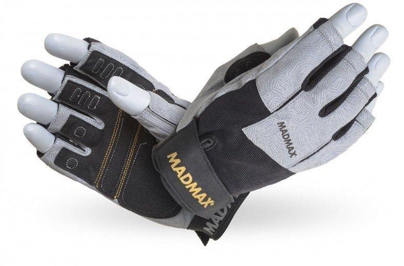 Černo-šedé fitness rukavice Madmax