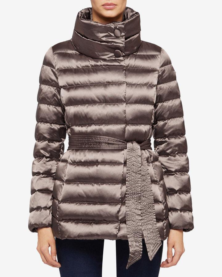 Hnědá zimní dámská bunda Geox - velikost M
