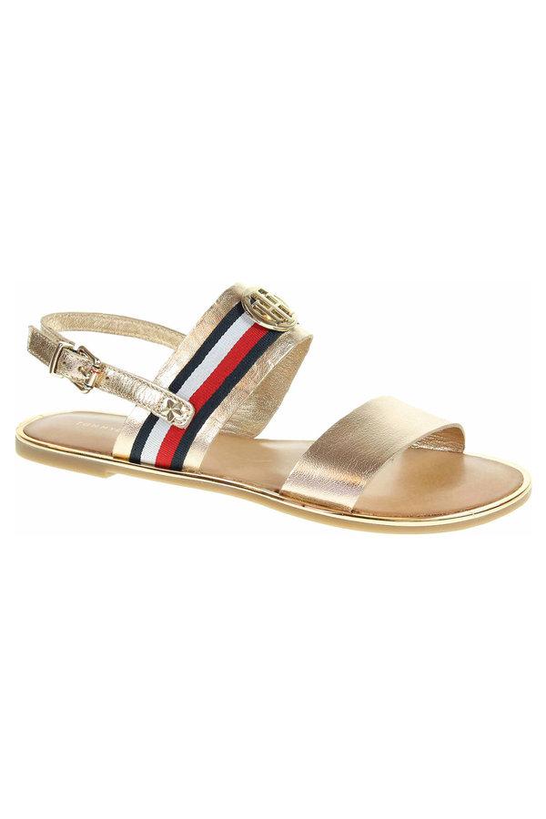 Zlaté sandály Tommy Hilfiger