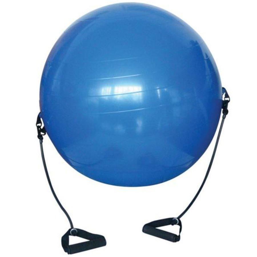 Modrý gymnastický míč s gumovými expandéry Sedco - průměr 75 cm