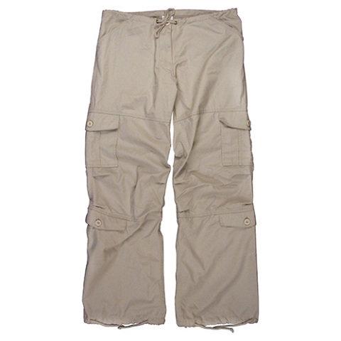 Kalhoty - Kalhoty dámské VINTAGE ŠEDO-PÍSKOVÉ