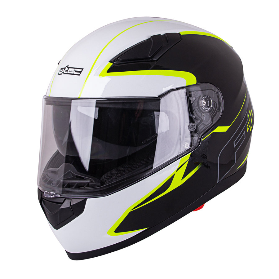 Černo-žlutá unisex helma na motorku FS-816, W-TEC