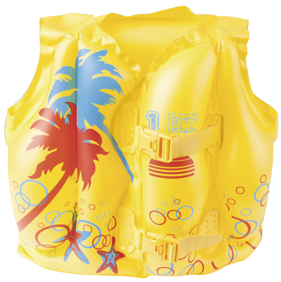 Žlutá nafukovací dětská plavecká vesta Bestway - velikost 3-6 let