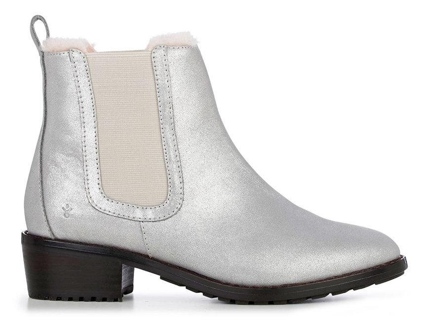 Stříbrné dámské kotníkové boty Emu Australia - velikost 43 EU