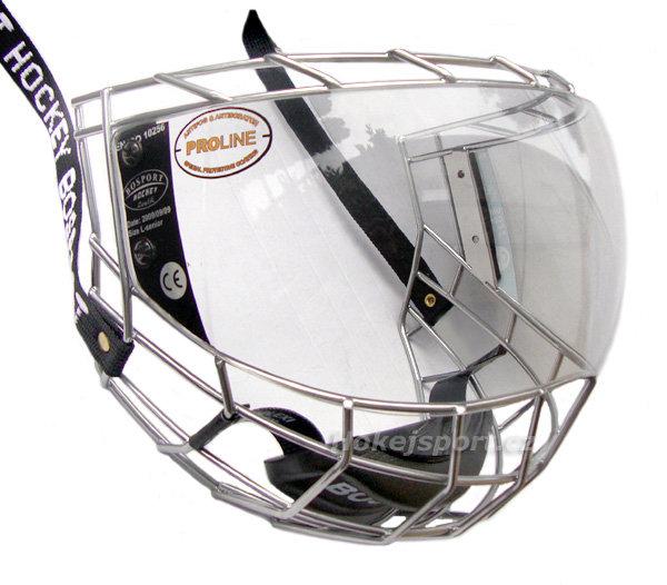 Plexi na hokejovou helmu - Uniplexi Bosport Convex Velikost: Junior