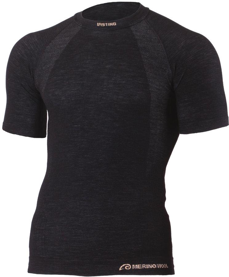 Černé pánské tričko s krátkým rukávem Lasting - velikost XXL-3XL
