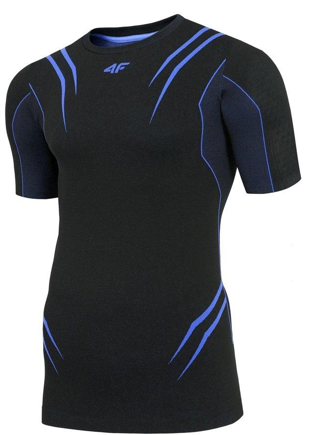 Modré pánské funkční tričko s krátkým rukávem 4F - velikost S-M