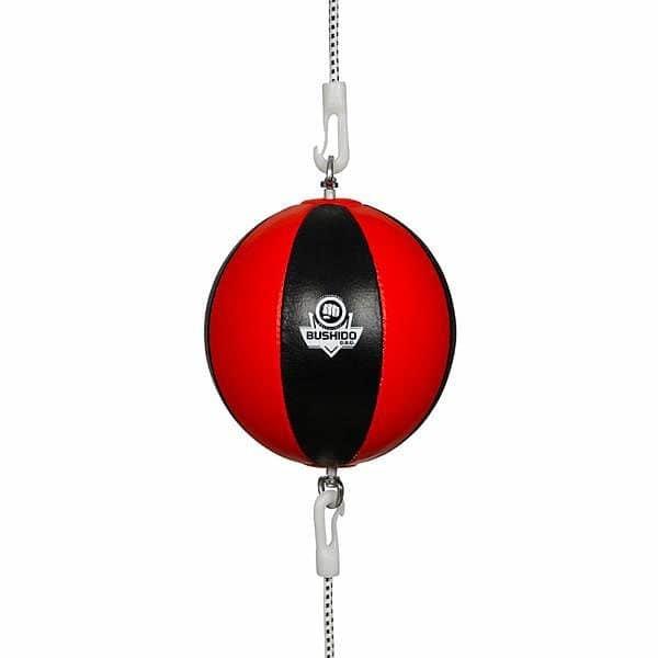 Černo-červený boxovací míč Bushido - průměr 22 cm
