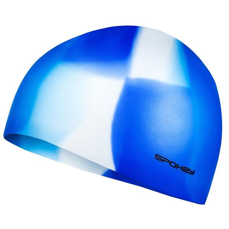 Bílo-modrá pánská nebo dámská plavecká čepice Spokey