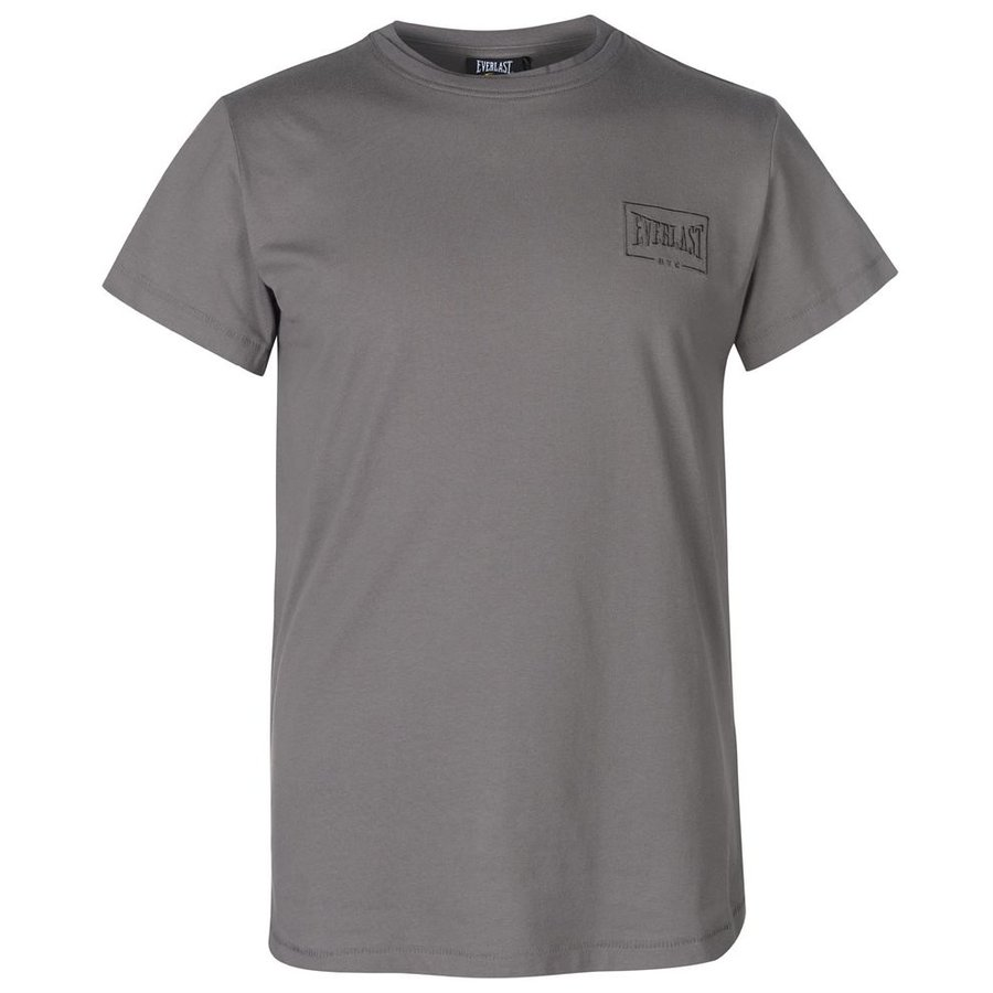 Šedé pánské tričko s krátkým rukávem Everlast