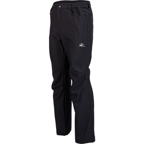 Černé softshellové pánské kalhoty Willard - velikost XL
