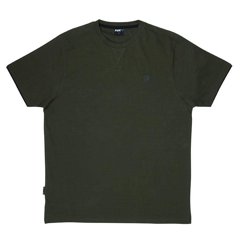 Rybářské tričko - Fox International Fox tričko Green & Black T-Shirt Velikost: XXL