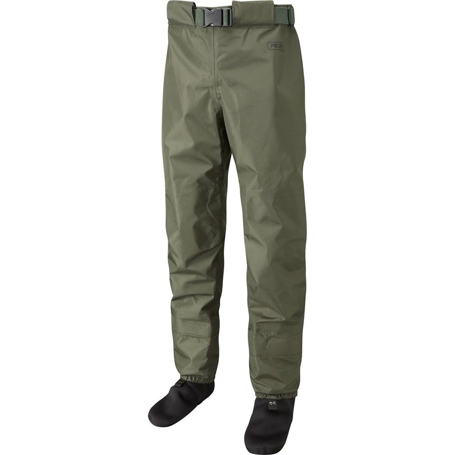 Khaki brodící kalhoty Profil Breathable Waist Waders, Leeda