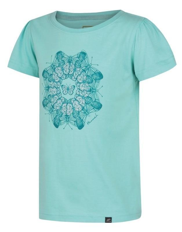 Modré dětské tričko s krátkým rukávem Hannah