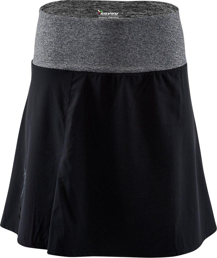 Černo-šedá dámská sukně Silvini - velikost M