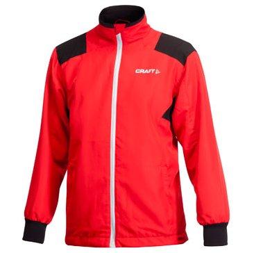 Červená dětská dívčí nebo chlapecká bunda na běžky Craft - velikost 116