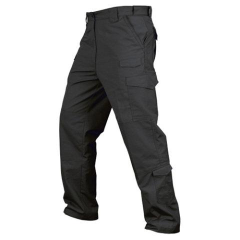 Kalhoty - Kalhoty CONDOR TACTICAL rip-stop ČERNÉ
