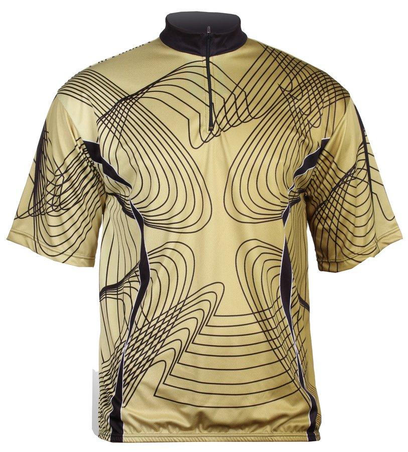 Khaki pánský nebo dámský cyklistický dres Merco - velikost M