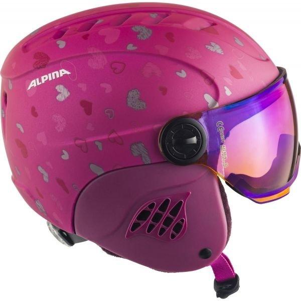 Růžová dívčí lyžařská helma Alpina - velikost 51-55 cm