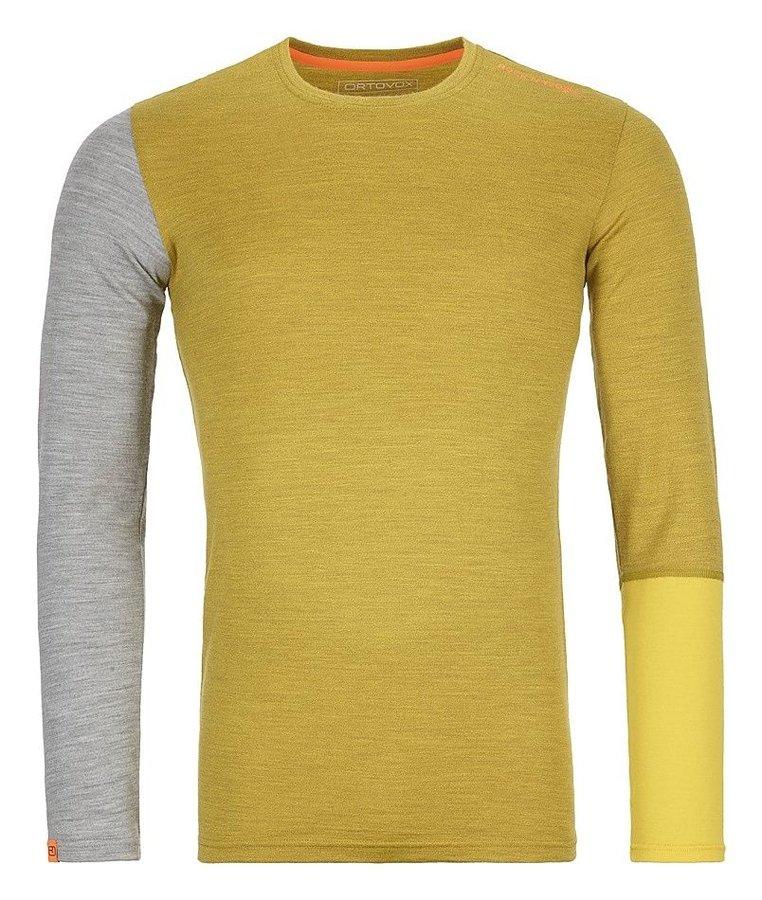 Šedo-žluté pánské termo tričko s dlouhým rukávem Ortovox