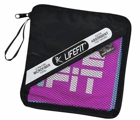 Ručník - LIFEFIT rychleschnoucí ručník z mikrovlákna 105x175cm, fialový