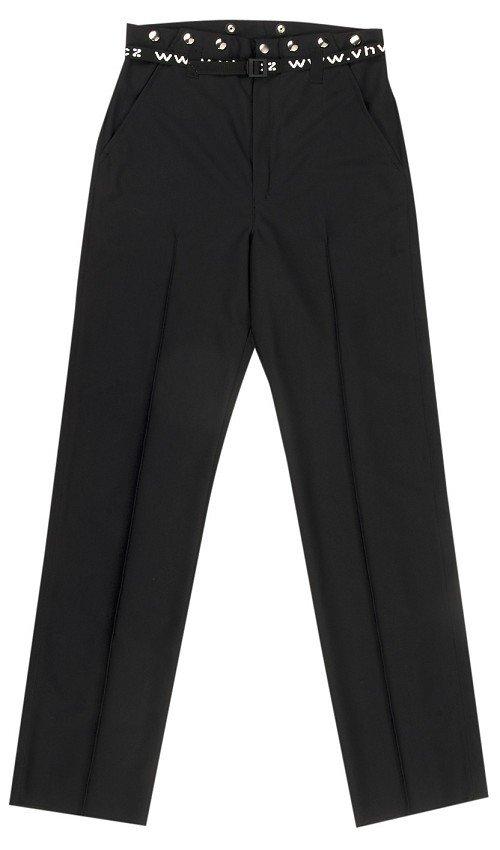 Černé hokejové kalhoty pro rozhodčího - senior Opus
