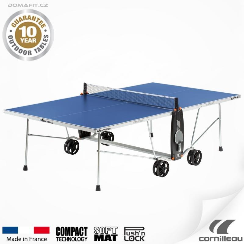 Modrý venkovní stůl na stolní tenis 100 S Crossover, Cornilleau