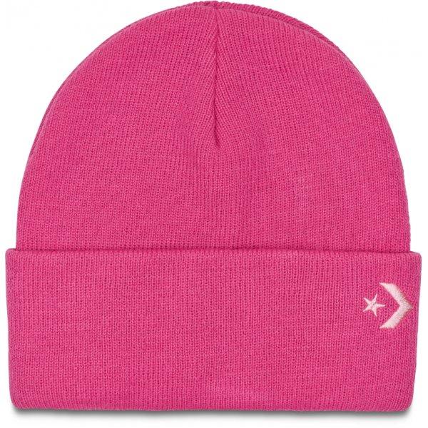 Růžová dámská zimní čepice Converse - univerzální velikost