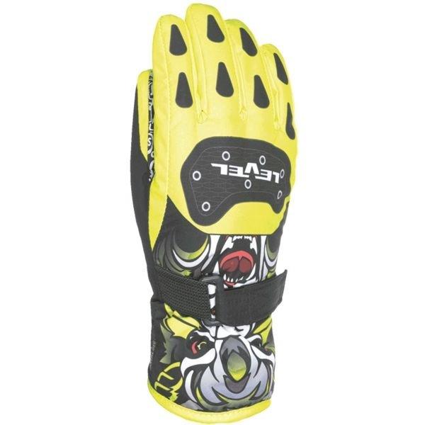 Žluté dětské zimní rukavice Level - velikost 4