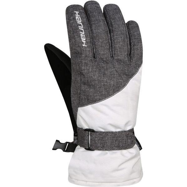 Bílé dámské lyžařské rukavice Hannah
