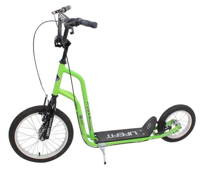 Zelená dětská koloběžka Rider, Sulov - nosnost 120 kg