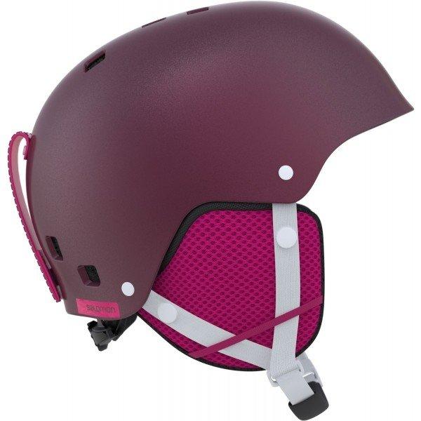 Fialová dívčí lyžařská helma Salomon