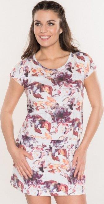 Bílo-růžové dámské šaty Sam 73 - velikost XS