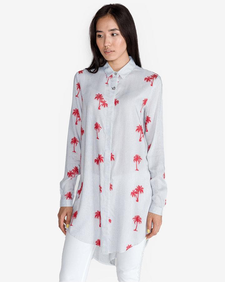 Bílá dámská košile s dlouhým rukávem Versace Jeans