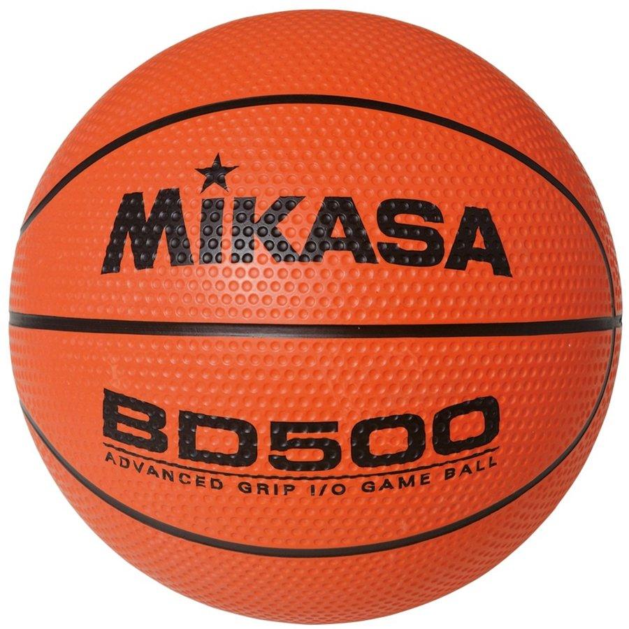 Oranžový basketbalový míč BD500, Mikasa - velikost 7