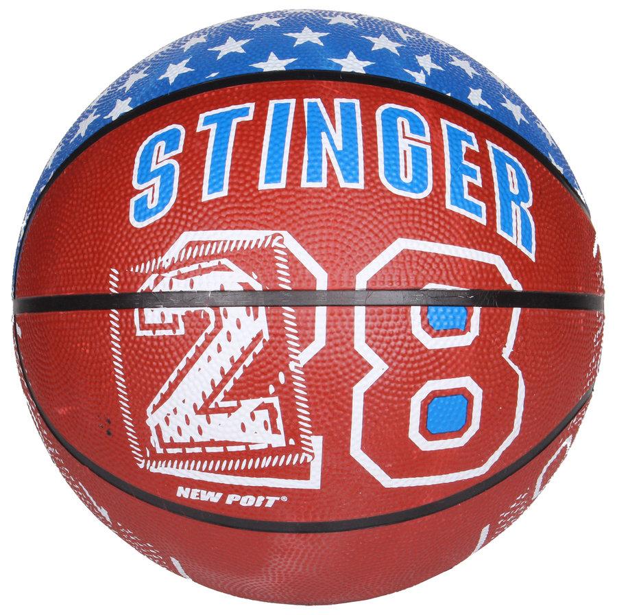 Hnědý basketbalový míč Print, New Port - velikost 7