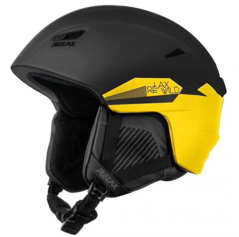 Žlutá lyžařská helma Relax - velikost 56-58 cm