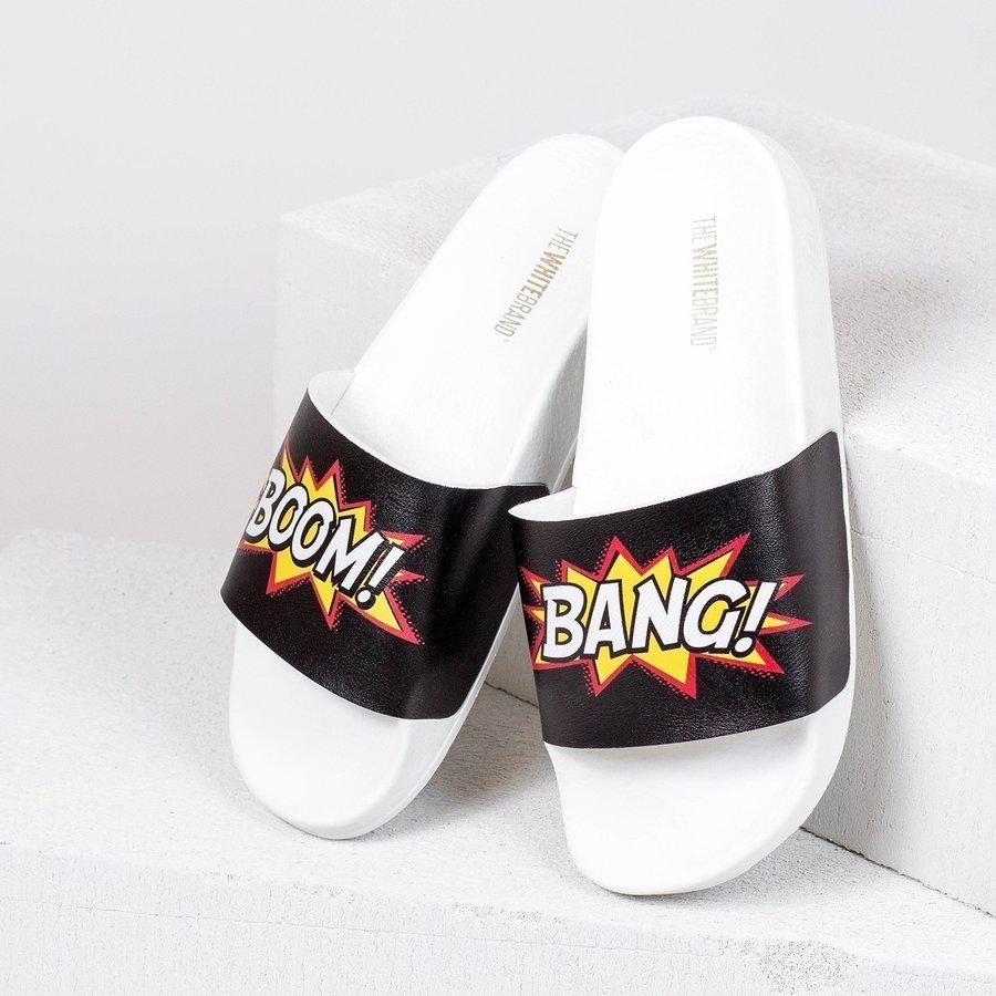 Bílé dámské pantofle The White Brand - velikost 37 EU