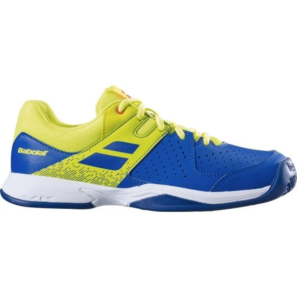 Modro-žlutá dětská tenisová obuv Babolat