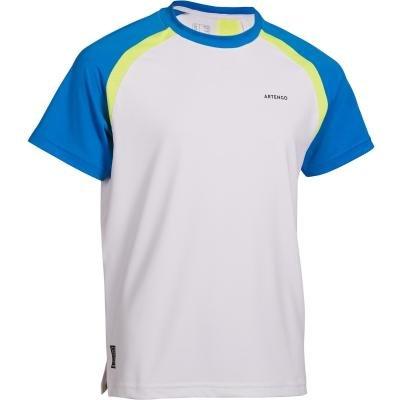 Bílo-modré dětské chlapecké tenisové tričko Artengo - velikost 125