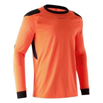 Oranžový brankářský fotbalový dres F100, Kipsta