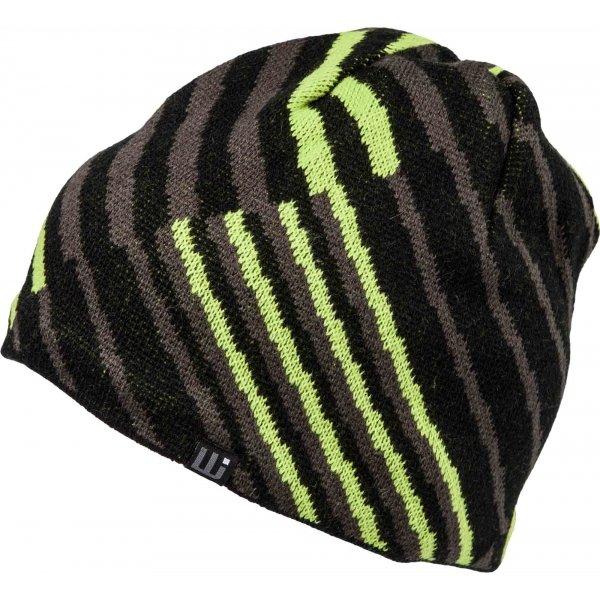 Černo-zelená pánská zimní čepice Willard - velikost S-M