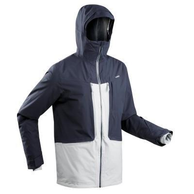 Bílo-modrá pánská lyžařská bunda Wed'ze