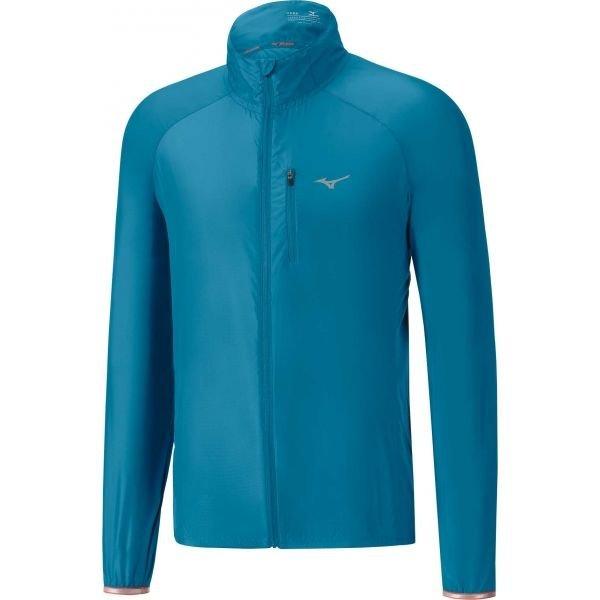 Modrá pánská běžecká bunda Mizuno