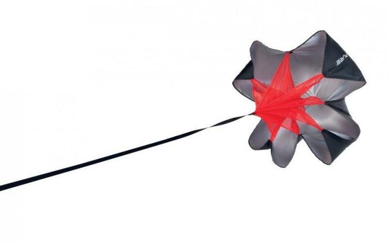 Černý tréninkový brzdící padák Pure2Improve - průměr 125 cm